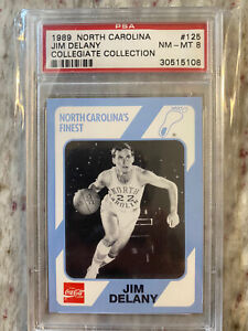 1989 North Carolina Collegiate Collection Jim Delany; PSA 8; UNC Tar Heels