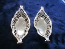 More details for antique pair of solid silver scottish trinket dishes by hamilton & inches 1898.
