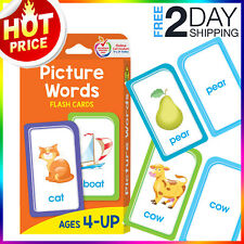 First Words Flash Cards Picture Words fr Toddlers Kids Babies Preschool Learning