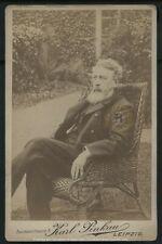 Vintage German Socialist: Wilhelm Liebknecht Cabinet Card Photograph c. 1890