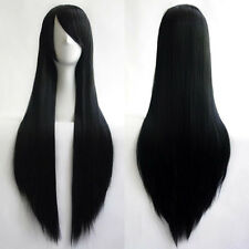 80cm Full Wig Long Straight Wig Cosplay Party Costume Anime Hair Women Fashion