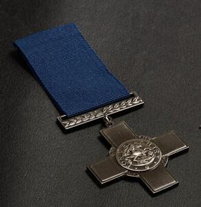 Full Size Replica George Cross Medal & Ribbon. Gallantry/Heroism Civil/Military