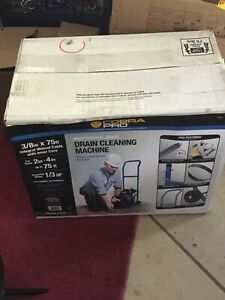 "Cobra Pro CP3020 3/8"" x 75ft Drain Cleaning Machine for 2"" - 4"" Pipes - SEALED"
