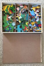 Disney Jake Neverland And Mickey Mouse Wooden Puzzles In Storage Box. 24 Piece