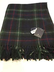 House Of Balmoral Scottish Large Wool Rug Blanket Mackenzie Tartan Check Throw