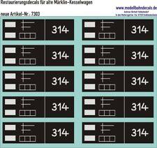00-Restaurierungs-Decals - für alte Märklin-Kesselwagen 087-7303 Top Neu!