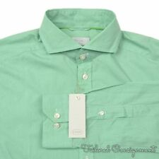 ETON Green Houndstooth SUPER SLIM Mens Luxury Dress Shirt NWT - 40 / M / 15.75