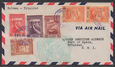 *Portuguese Guinea Airmail Cover SC# 234, 245, 243, C7 to BWI C/O Pan Amer Air