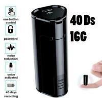 Spy Voice Activated Listening Audio Device Mini Bug 16GB Digital Hidden Recorder
