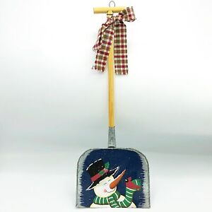 Snowman with Top Hat & Cardinal Painted Shovel Hanging
