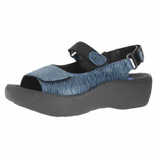 Wolky Jewel Denim Canals Womens Ankle Hook And Loop Strap Size 36M