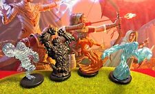 Elemental x4 LOT D&D Miniature Dungeons Dragons pathfinder earth water air fire