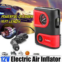 AUDEW 12V DC 150PSI Tire Inflator Car Air Compressor Electric Pump Portable Auto