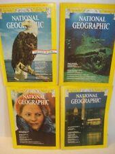 Set of 4 Magazine National Geographic - February, May, July, & October 1976