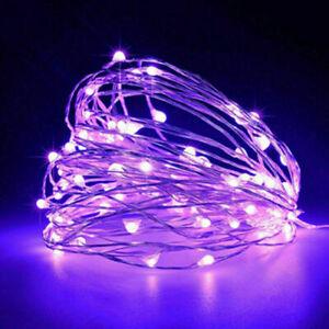 LED Lichterkette Draht 10 20 40 100 Mikro Drahtlichterkette Batterie warmweiss