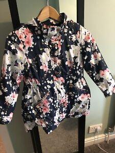 Ted Baker Girls Full Zip Floral Hooded Jacket Blue - 9 Years