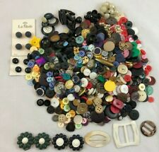 Mixed 1 Lb Lot of Vintage & New Buttons - Variety Craft Sewing Metal Sparkle +