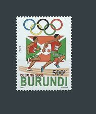 BURUNDI 2008 OLYMPIC GAMES BEIJING CHINA RUNNING ATHLETICS COURS FLAG RARE MNH