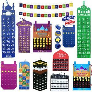 Felt Eid Mubarak Ramadan Kareem Mosque Countdown Calendar Childrens Present  HG