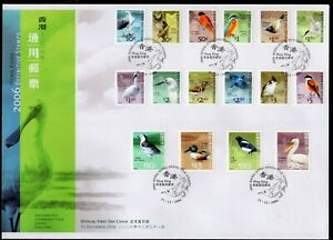 Hong Kong 2006 Birds Definitive Set of 16  on Official FDC