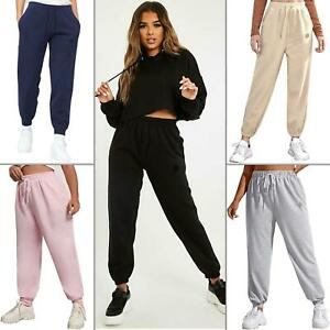 Enzo Womens Oversized Joggers Ladies Gym Cuffed Lounge Bottoms Tracksuit Pants