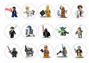 Lego Star Wars Cupcake Toppers | Icing Sheet / Wafer Paper | Edible Print