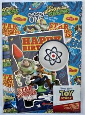 Disney Pixar Toy story Birthday Gift Wrapping Paper & Card & Tag set