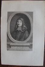 FRANCOIS EUDES MEZERAY (1610-1683), HISTORIEN, PORTRAIT, 1760