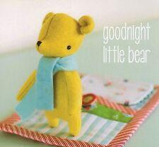 Goodnight Little Bear - Sewing Craft A5 Creative Card PATTERN - Felt Teddy Doll