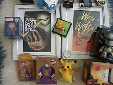 Job lot loot crate exclusives Bundle Framed prints Figures Gold alien Joker NEW