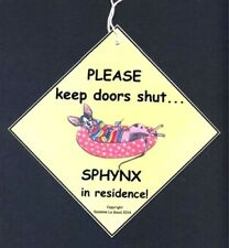 Sphynx Cat in residence painting house sign from original by Suzanne Le Good