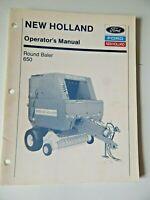 New Holland Round Baler 650 Operators Manual