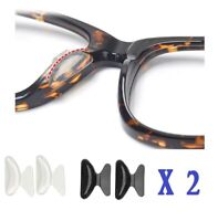 2.5mm Non-slip Silicone Nose Pad for Eyeglasses 2 Pairs(Black+White) US Seller