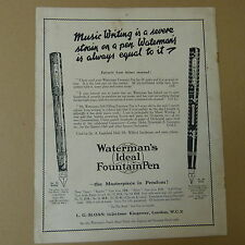 vintage advertise WATERMAN's IDEAL FOUNTAIN PEN Mod. No. 56 + 56, 1930s