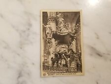 Antique Postcard Chair of Verity in St Gudule Church Brussels