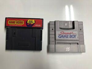 Super GameBoy & GAME GENIE COMBO Super Nintendo SNES AUTHENTIC