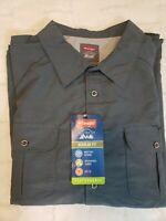 "Wrangler Men's Size 3XL ""Outdoor Series"" Blue Gray L/S Button Down Shirt NWT"
