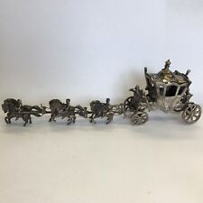 Fine Antique Solid Silver Miniature 1902 Coronation State Coach Salt 18cm