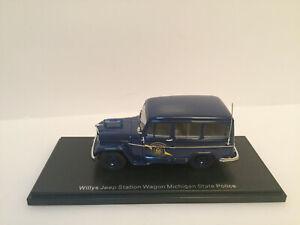1/43  NEO 49538 1954 Jeep Willys Station Wagon MICHIGAN Police