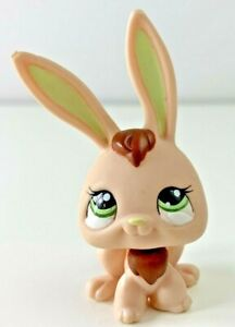 Littlest Pet Shop Bunny Rabbit Long Ears 1019 Brown Green Tan 🐰 RARE LPS Toy