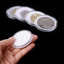 17-46mm Plastic Coin Holder Capsule Storage Case Display Box +5 Sizes Pad Ring