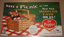 1964 Dr. Pepper New York Worlds Fair Poster Ford Comet Caliente NEW OLD STOCK