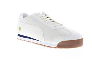 Puma Scuderia Ferrari Roma 30608307 Mens White Motorsport Sneakers Shoes 13