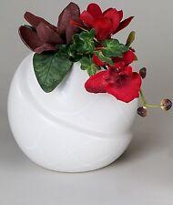 moderne déco vase rond Vase en céramique en samunga BLANC HAUTEUR 16 cm