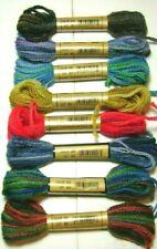8 Variegated Skeins Paternayan 3ply Persian Wool Needlepoint 8 Colors 64 Yds Jca