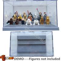 Grey lego minifigure display case For Star wars Batman Movie figures 71017 75131