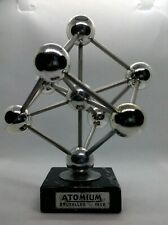 More details for atomium 1958 brussels world fair expo paperweight atomic desk model mid century