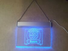 Pittsburgh Steelers Football Blue Light Hanging Display Sign