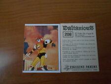 figurina DALTANIOUS n.208- ED. PANINI 1981 completa di velina