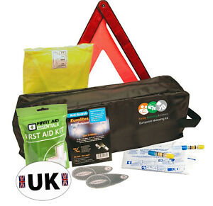 Driving Kit For France With Two NF Approved Breathalysers UK plate In Zipped Bag